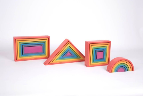 Wooden Rainbow Architect Set 28pk